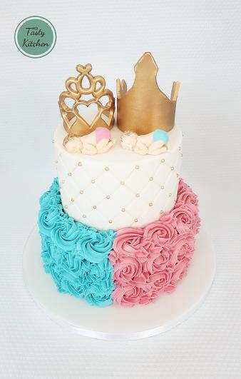 gender taart gender reveal taart kroon   The Tasty Kitchen gender taart