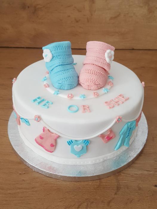 gender taart Babytaarten   Gender Reveal taarten   te bestellen bij The Tasty  gender taart