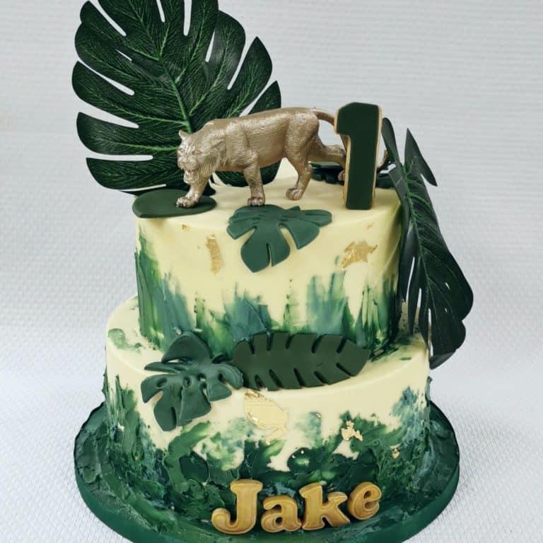 Jungle taart Jake met gouden tijger