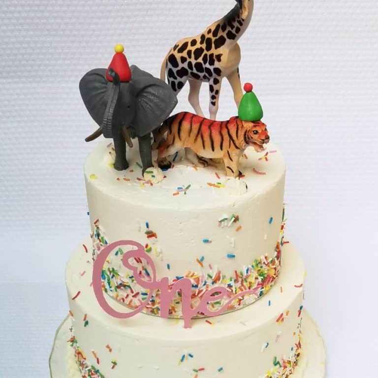 Party animal sprinkle cake