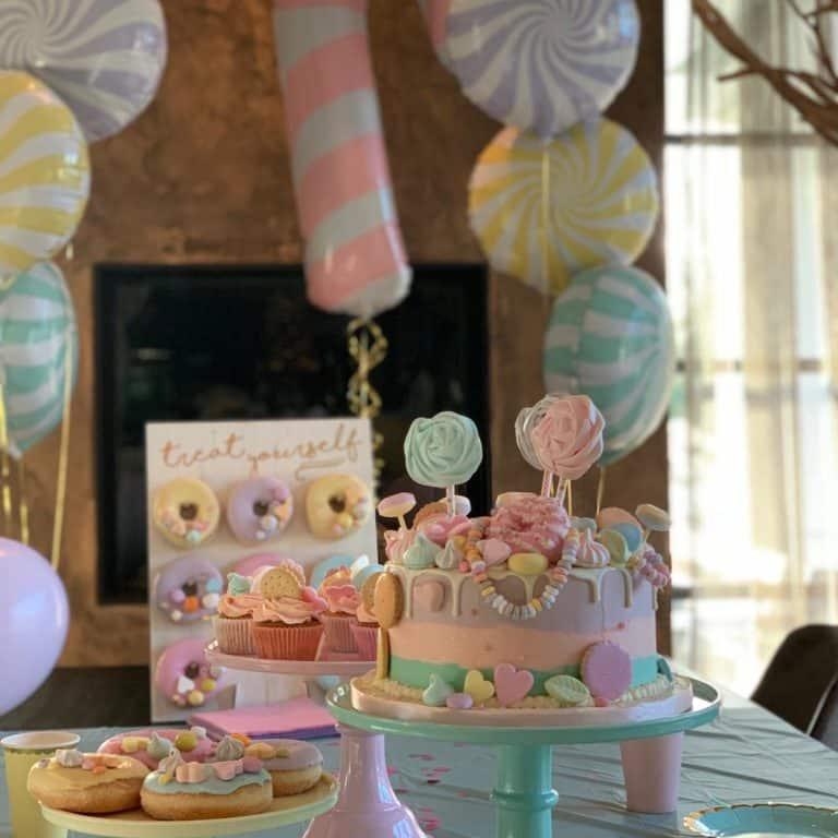 Pastel snoep taart