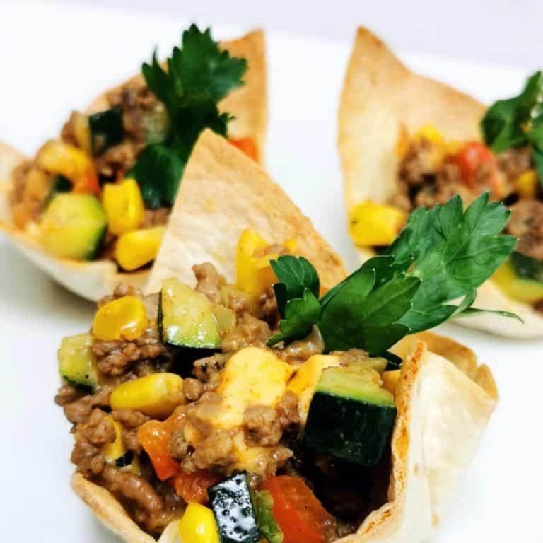 Fingerfood hapje mexicaans tortilla bakje